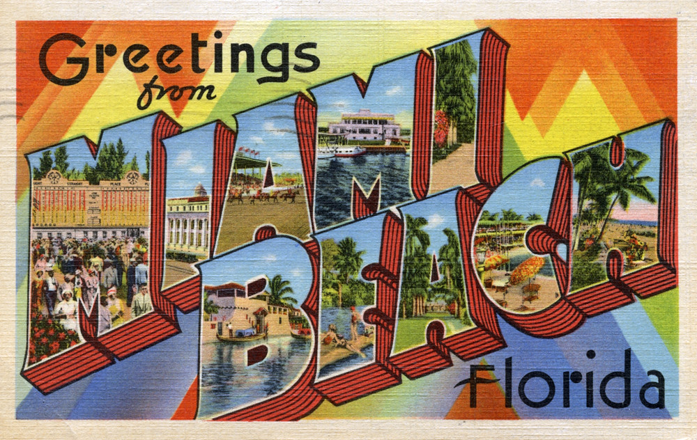 Well-known Greetings from Miami Beach, Florida - Large Letter Postcar… | Flickr FV86