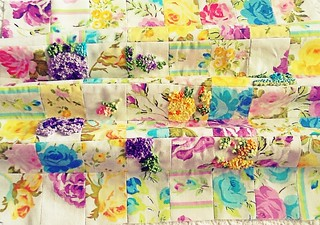 Patchwork Vintage Floral Fabric with Embroidery | by Nesha's Vintage Niche