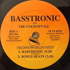 THE UNKNOWN D.J.:BASSTRONIC(LABEL SIDE-A)