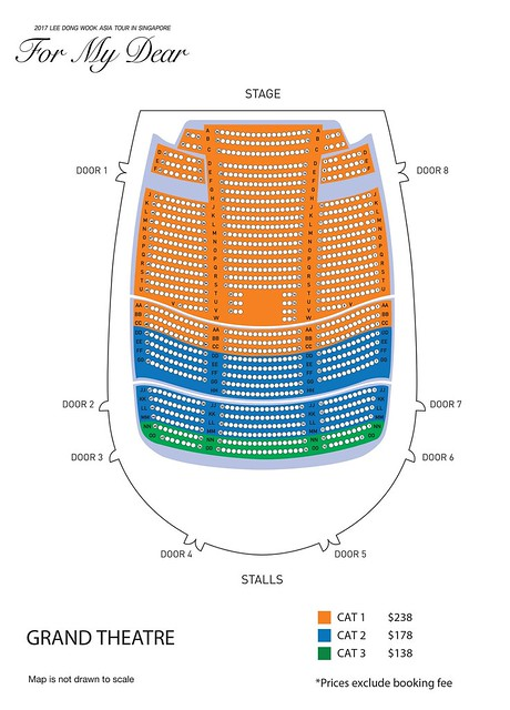 Lee Dong Wook 'For My Dear' Asia Tour in Singapore Seating Plan