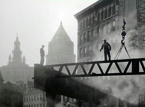 The Deconstruction of the Third Avenue Elevated Line - Sid Kaplan Photography