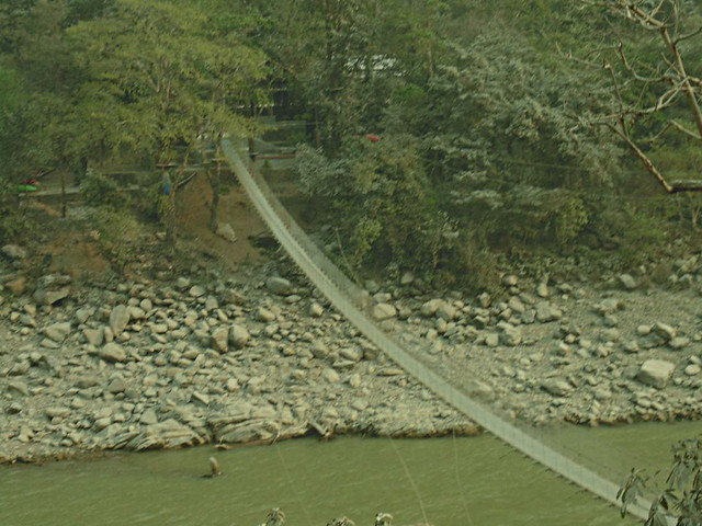 Hanging Bridge - River Valley - Chitwan To Kathmandu