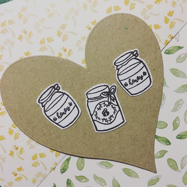 StickerKitten Bee Garden stamp set - honey jar stamps