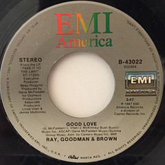 RAY, GOODMAN & BROWN:(BABY) LET'S MAKE LOVE TONIGHT(LABEL SIDE-B)