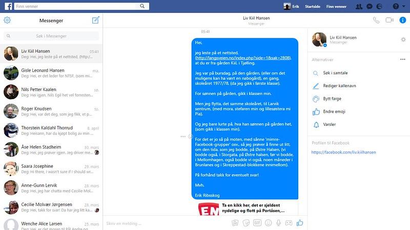 kiil facebook melding
