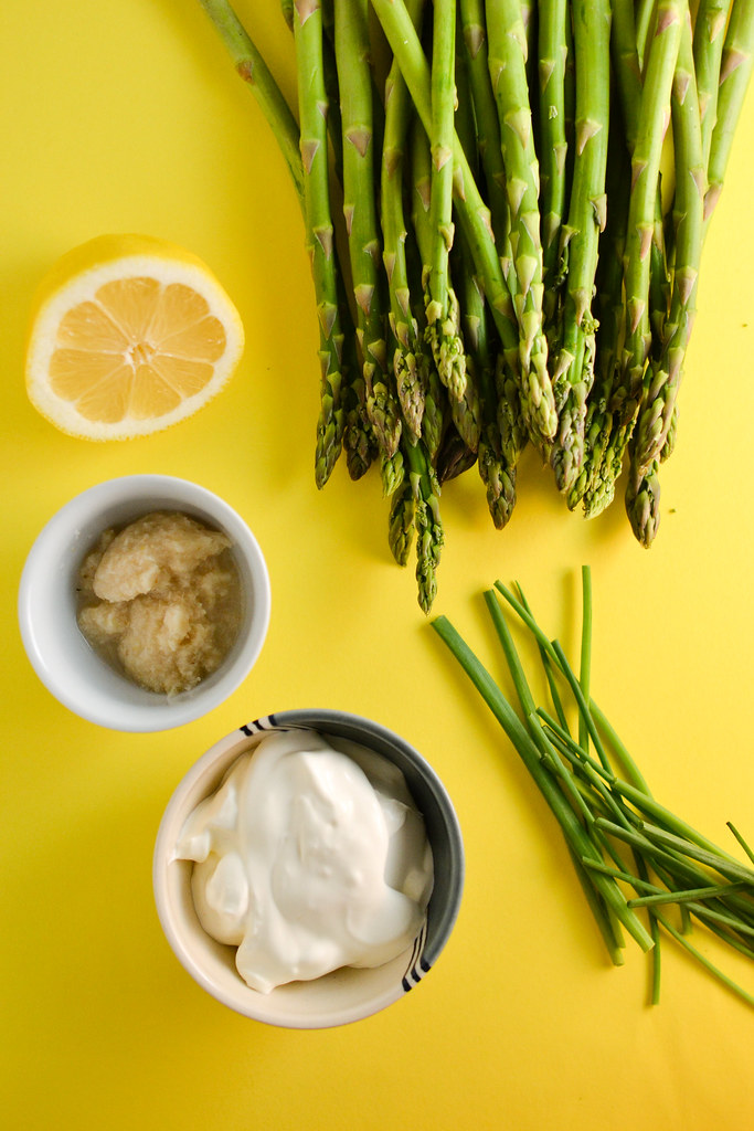 Charred Asparagus With Horseradish Cream Sauce | Things I Made Today