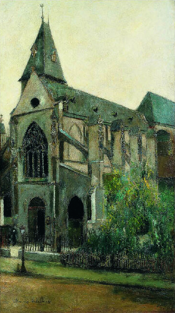 モーリス・ユトリロ《サン=メダール教会、パリ》(1908-09年、八木コレクション蔵)