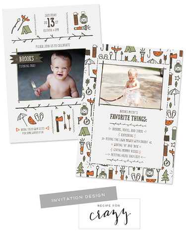 invitation design by recipeforcrazy | by lesley zellers