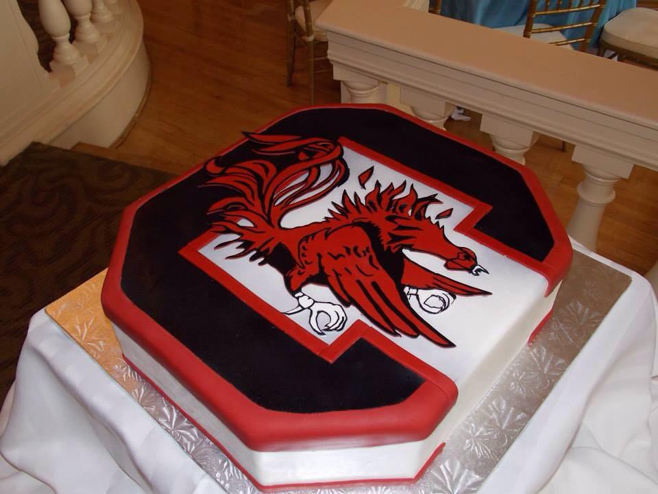 Black White And Red Fondant Cake