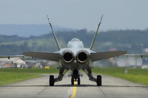 swiss af - f-18 - rear view