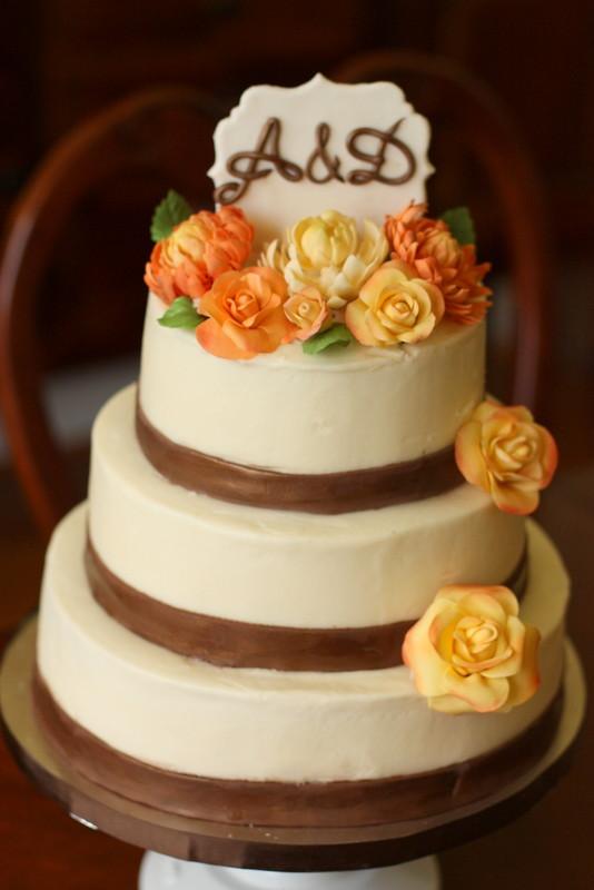 Rustic Fall Wedding Cake Rustic Fall Flowers Cake Flickr