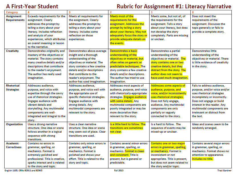Student Reflection: Literacy Narrative