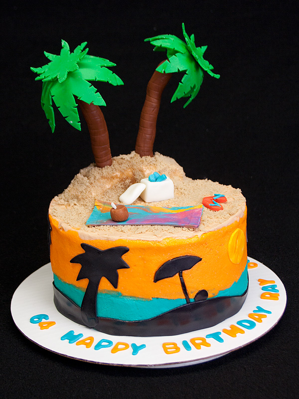 Island Cake An Island Themed Birthday Cake Sweetlywild Flickr