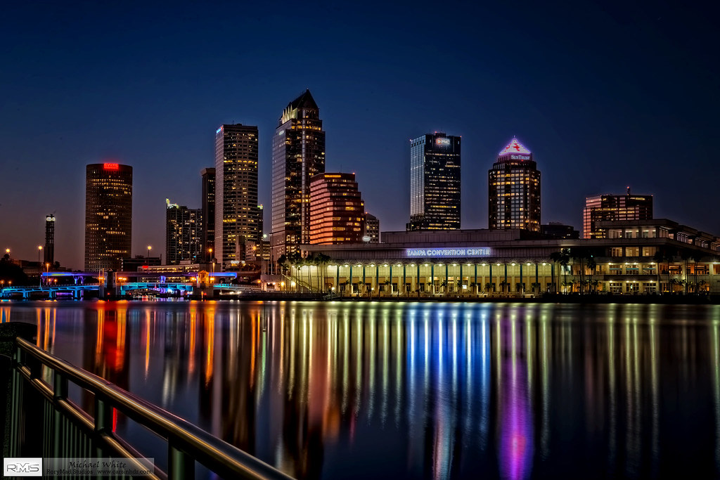 Tampa Skyline Night 03 18 2014 In Hdr Michael White Flickr