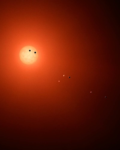 this-illustration-shows-what-the-trappist-1-system-might-look-like-if-we-could-view-it-with-a-powerf
