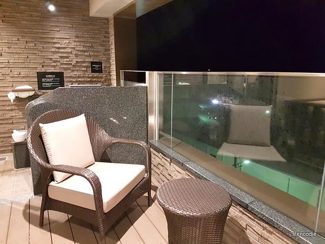 Shiretoko Grand Hotel Kitakobushi balcony onsen