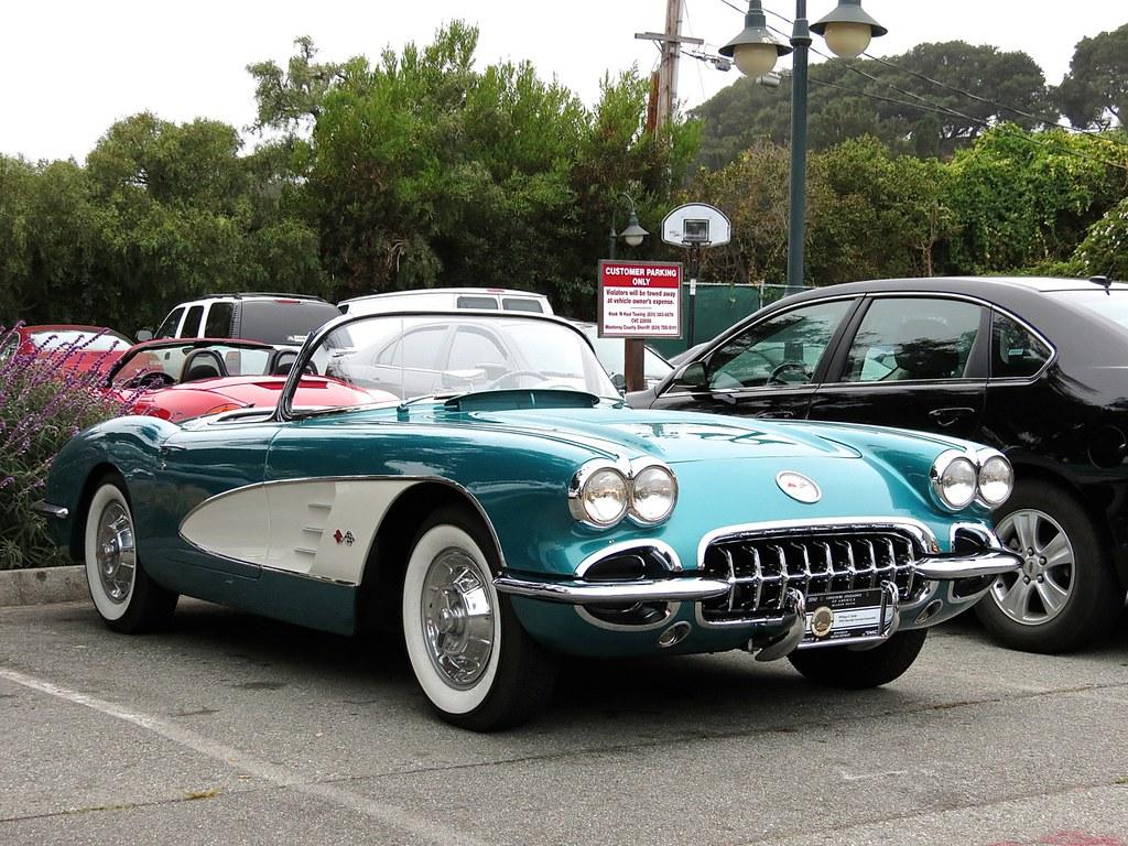 Teal C1 Corvette