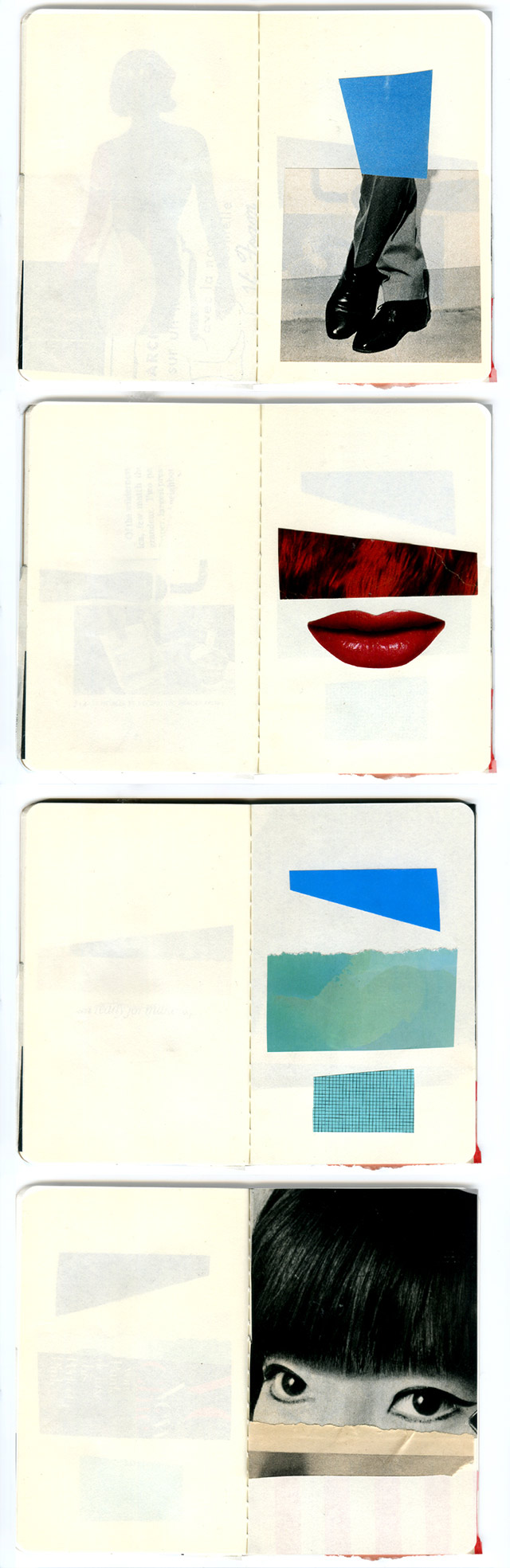 collage sketchbook pages 9-12 by laura redburn