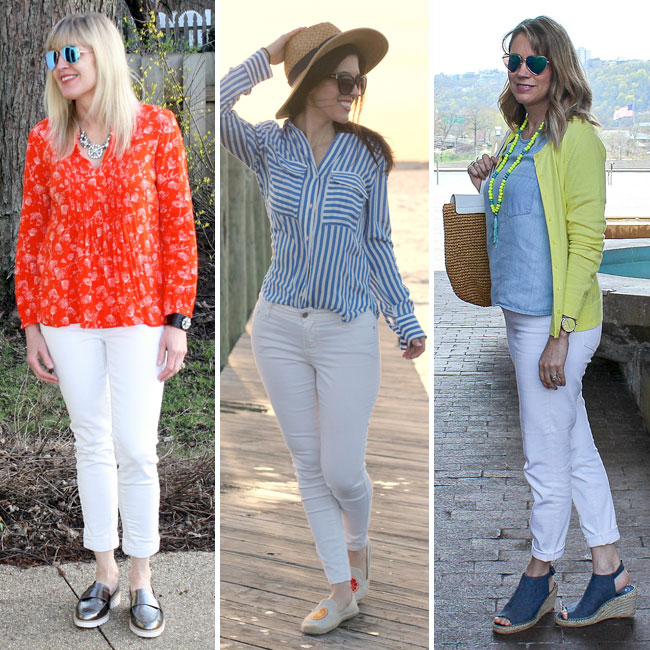 White jeans are the perfect spring and summer essential! Here are 6 ways to wear them!