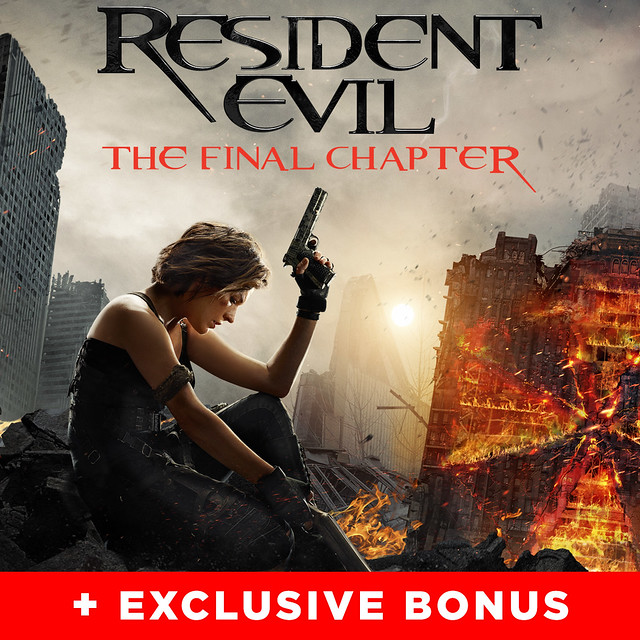Resident Evil: The Final Chapter (plus bonus features)