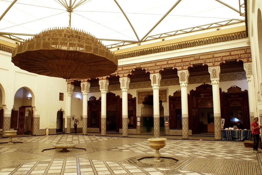 L'impressionnante cour du musée de Marrakech : Et voilà vous avez tout vu.