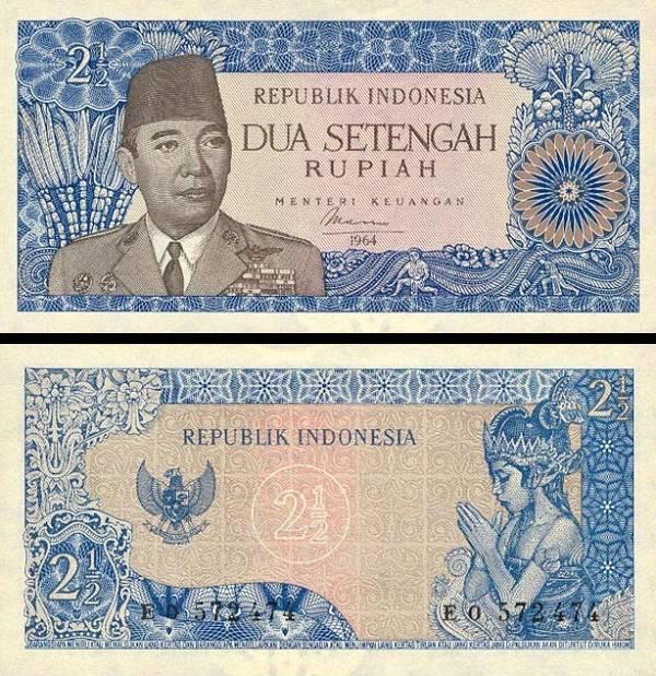 2,5 Rupie Indonézia 1964, P81b