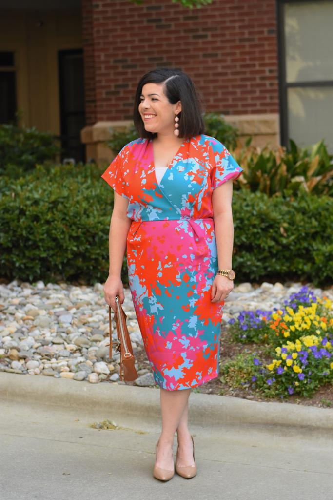 Colorful Midi Dress-@headtotoechic-Head to Toe Chic