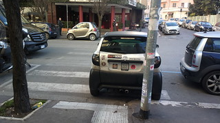 A Rome microcar parked on a zebra crossing | by hugovk