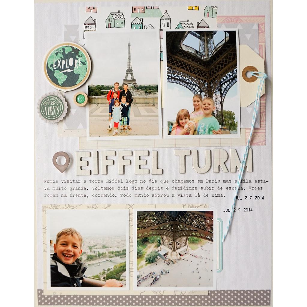 Eiffel Tower Scrapbook Layout