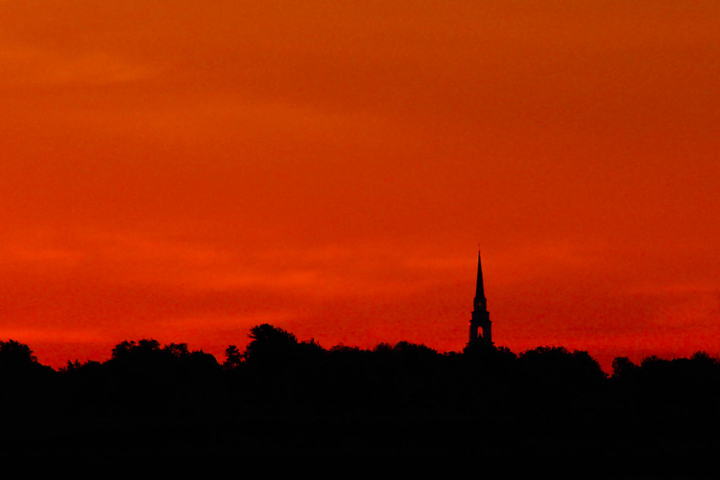 Sunrise Over Church Steeple Ten Minutes After That