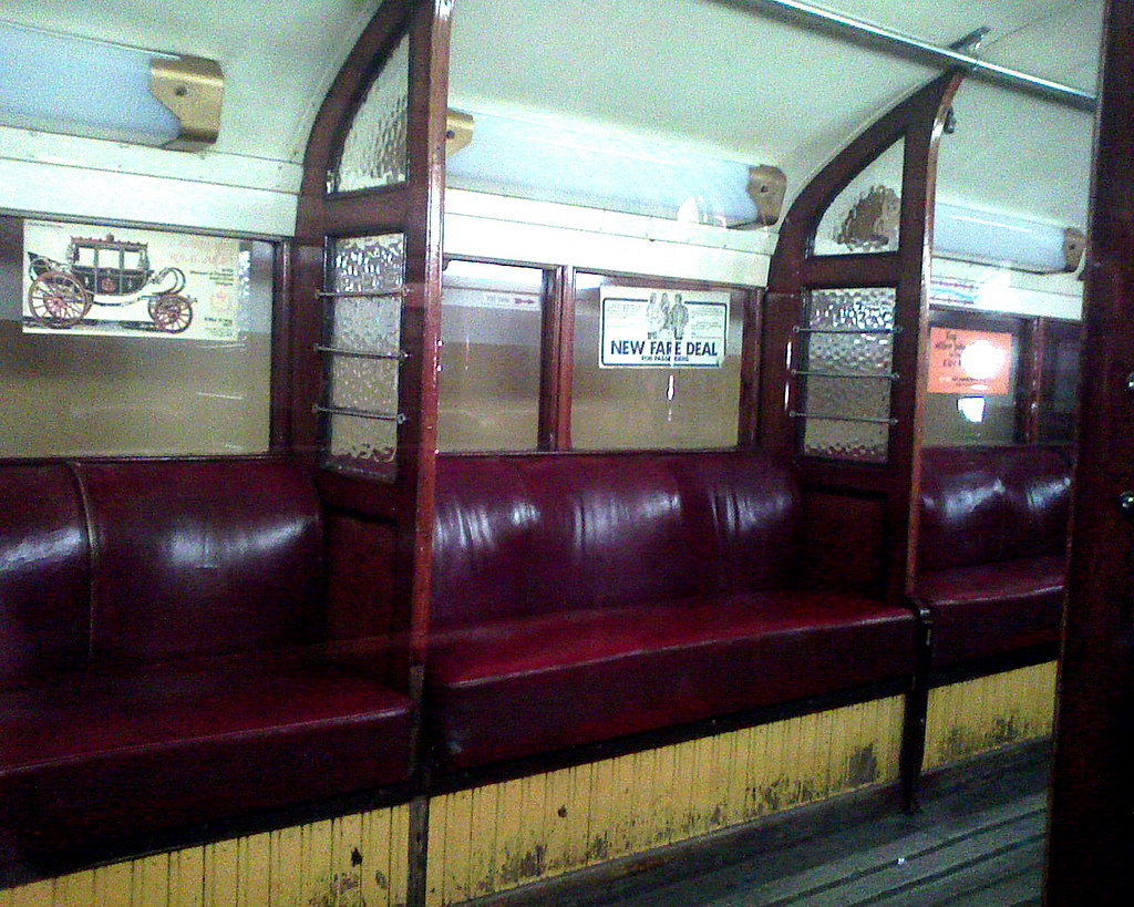 glasgow subway car interior in as withdrawn from servic flickr. Black Bedroom Furniture Sets. Home Design Ideas
