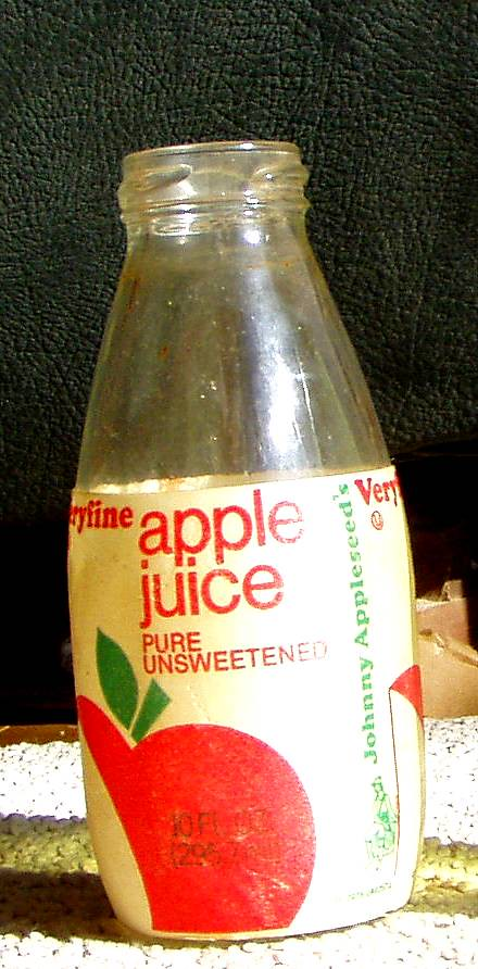 Still Pictures Are All Very Fine And >> early 1980s Veryfine apple juice bottle w/Johnny Appleseed… | Flickr