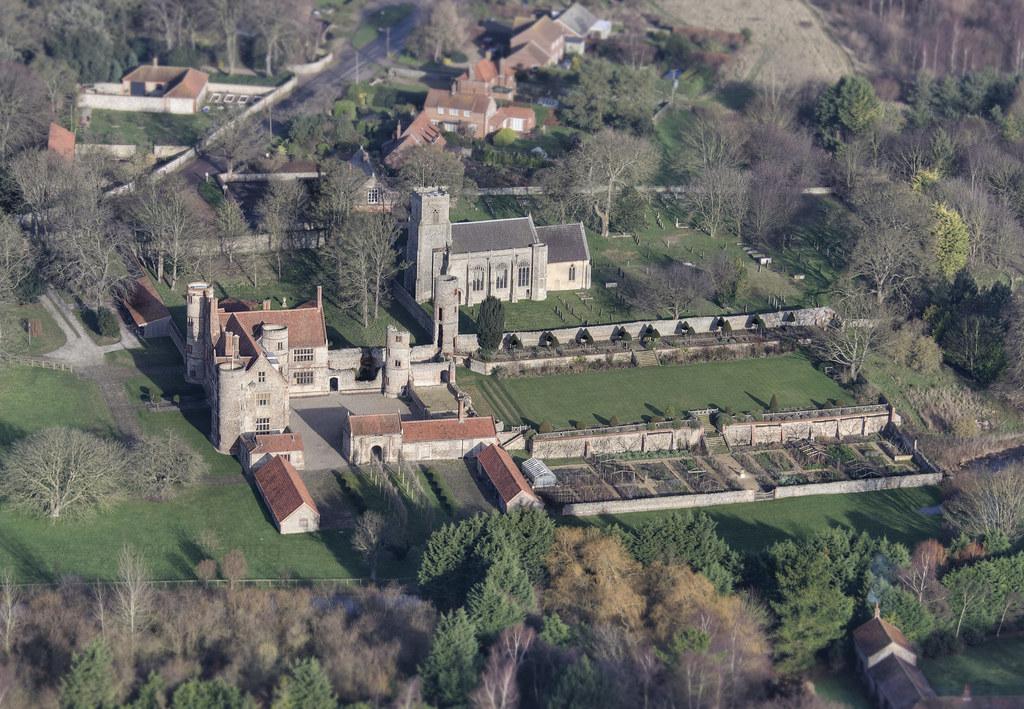 Stiffkey Old Hall Aerial Sir Nicholas Bacon Started