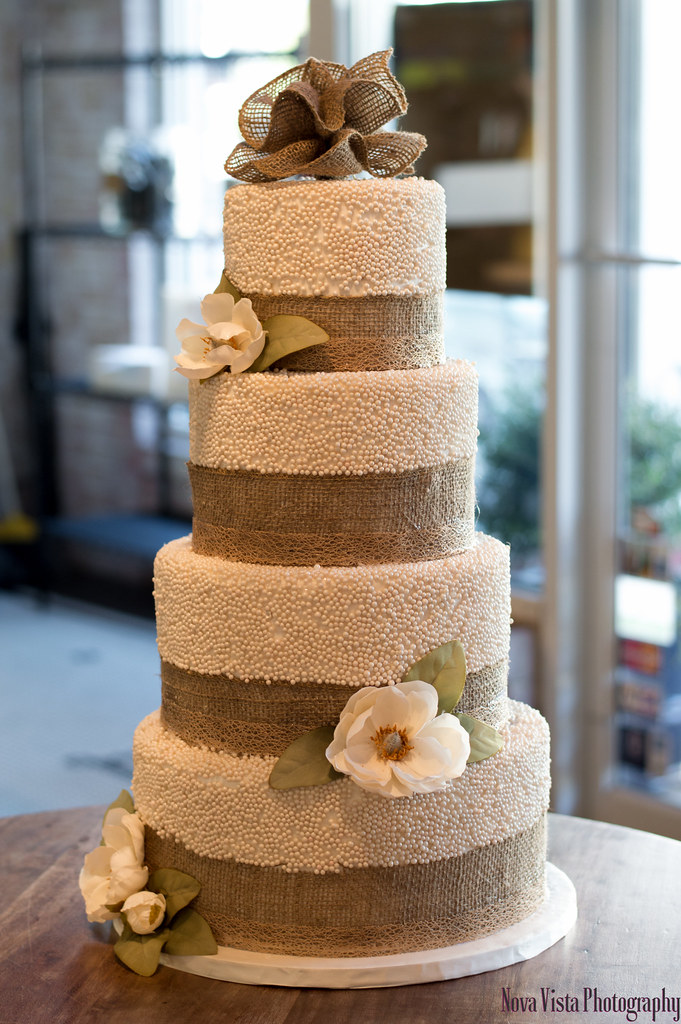 Rustic Tiered Anniversary Cake