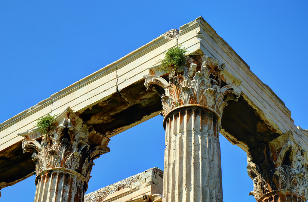 Olympieion / Corinthian capitals  Temple of Olympian Zeus ...