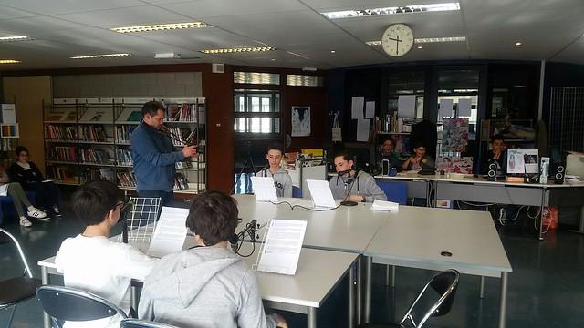 Les élèves du collège Le Joran ont enregistré une émission de radio