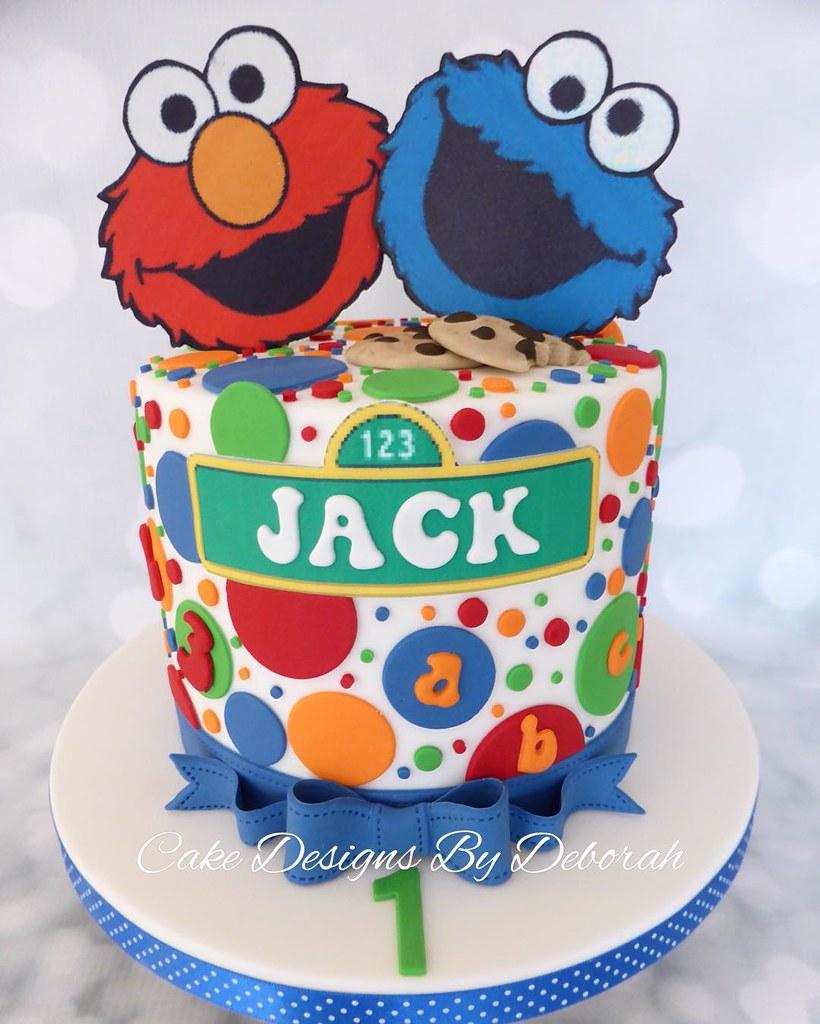1st Birthday Cake Birthdayboy 1stbirthday Cookiemonster Flickr