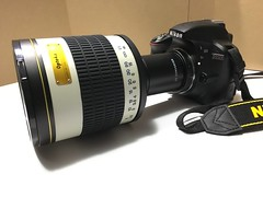Opteka 500mm f/6.3 Telephoto Mirror Lens with 2x converter (to 1000mm)