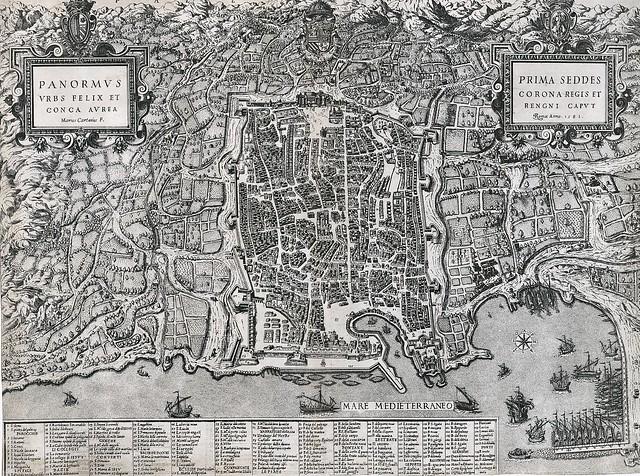 Mario Cartaro (1540-1620) - Panormus urbs felix et conca aurea; Kupferstich, 1581