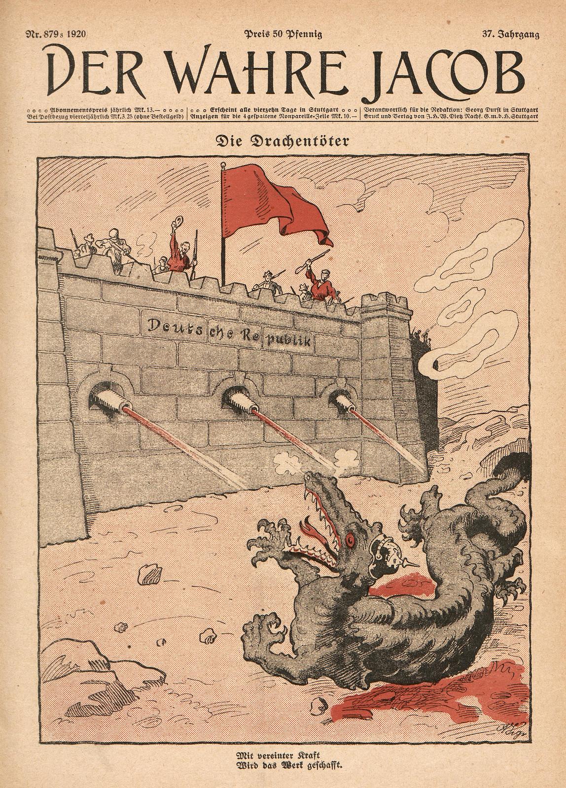 Arthur Krüger - Die Drachentöter, 1920