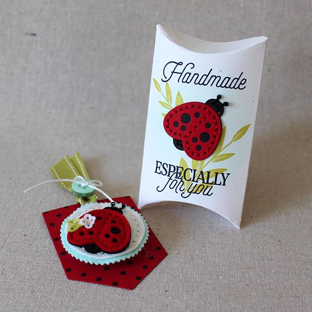 Ladybug Brooch Ensemble