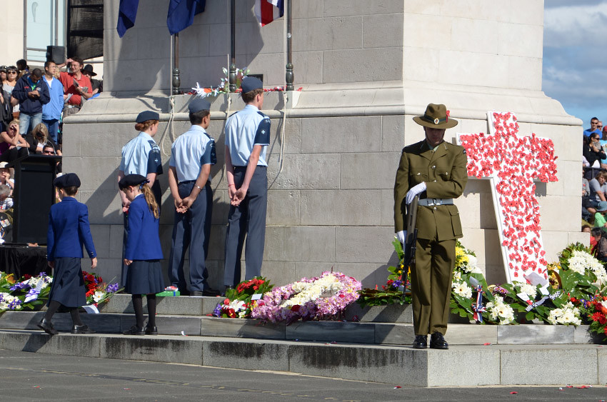 ANZAC Day-Gedenkfeier am Auckland War Memorial Museum