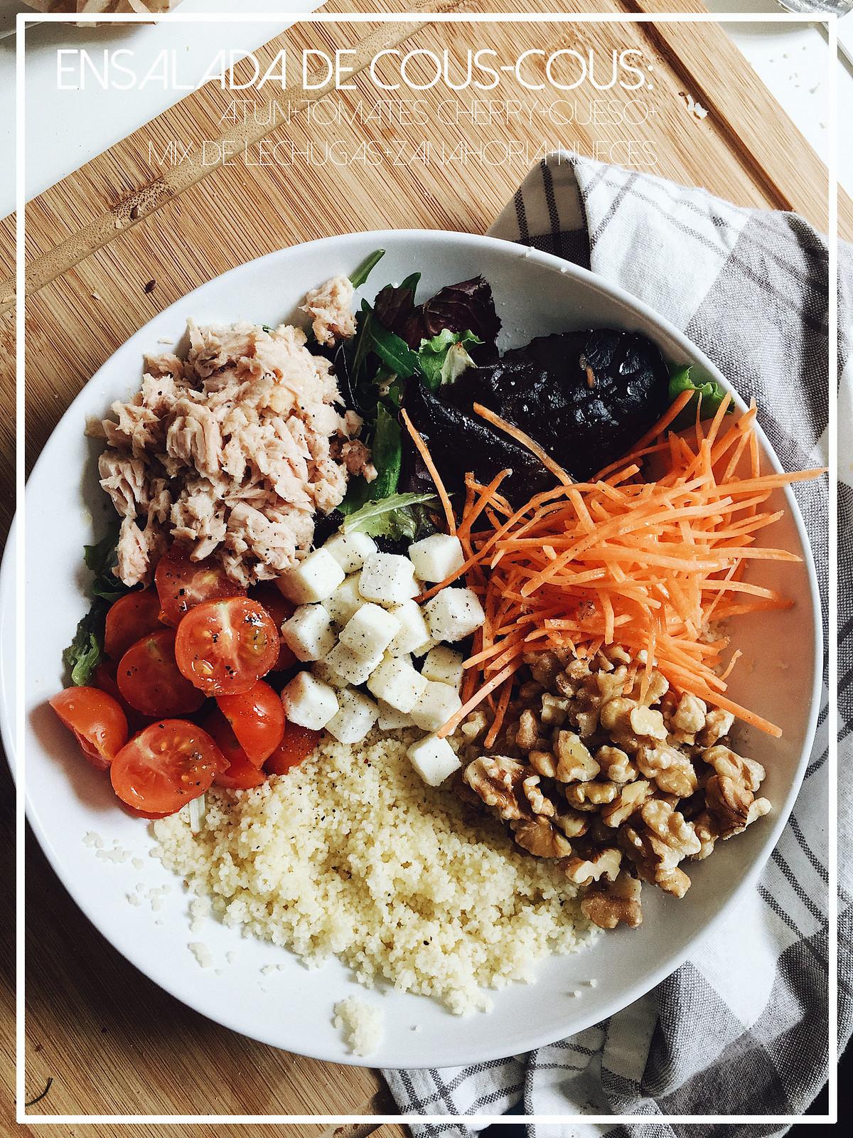 ensalada couscous con lechuga - seams for a desire - jessie chanes - recetas faciles -1