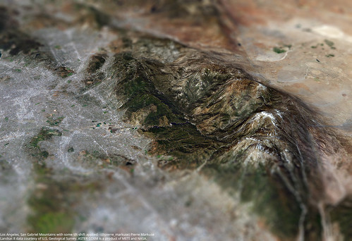 LA_San_Gabriel_Mountains_3d_tiltshift_L8_ASTER_GDEM | by Pierre Markuse
