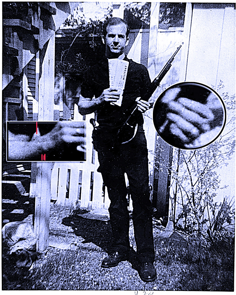 Lee Harvey Oswald backyard hand details   That is one ...