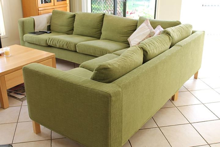 Beau ... Karlstad Sectional Nomad Green | By Comfort Works Custom Sofa Cover