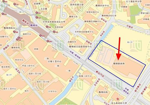 觀塘游泳池地圖 觀塘游泳池 香港政府 地理資訊地圖 黃埔體育會 Whampoa Sports Club