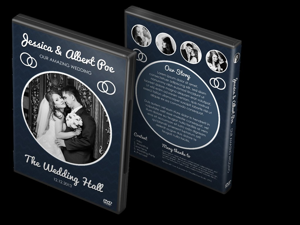 Elegant Dark Wedding Dvd Blu Ray Cover Template Elegant Flickr