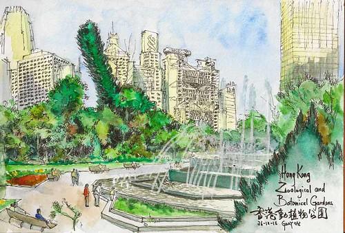 Sketching The Skyline At Hong Kong Zoological And Botanica Flickr