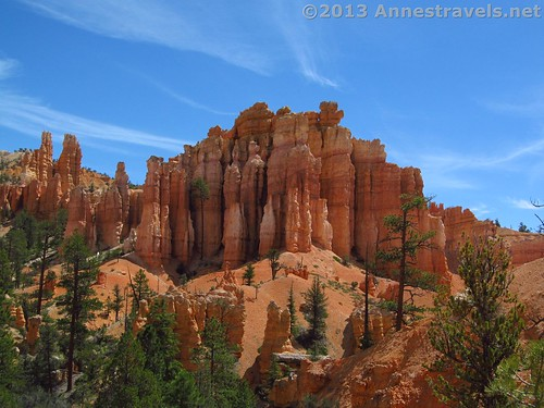 Formations along the Fairyland Trail in Bryce Canyon, Utah